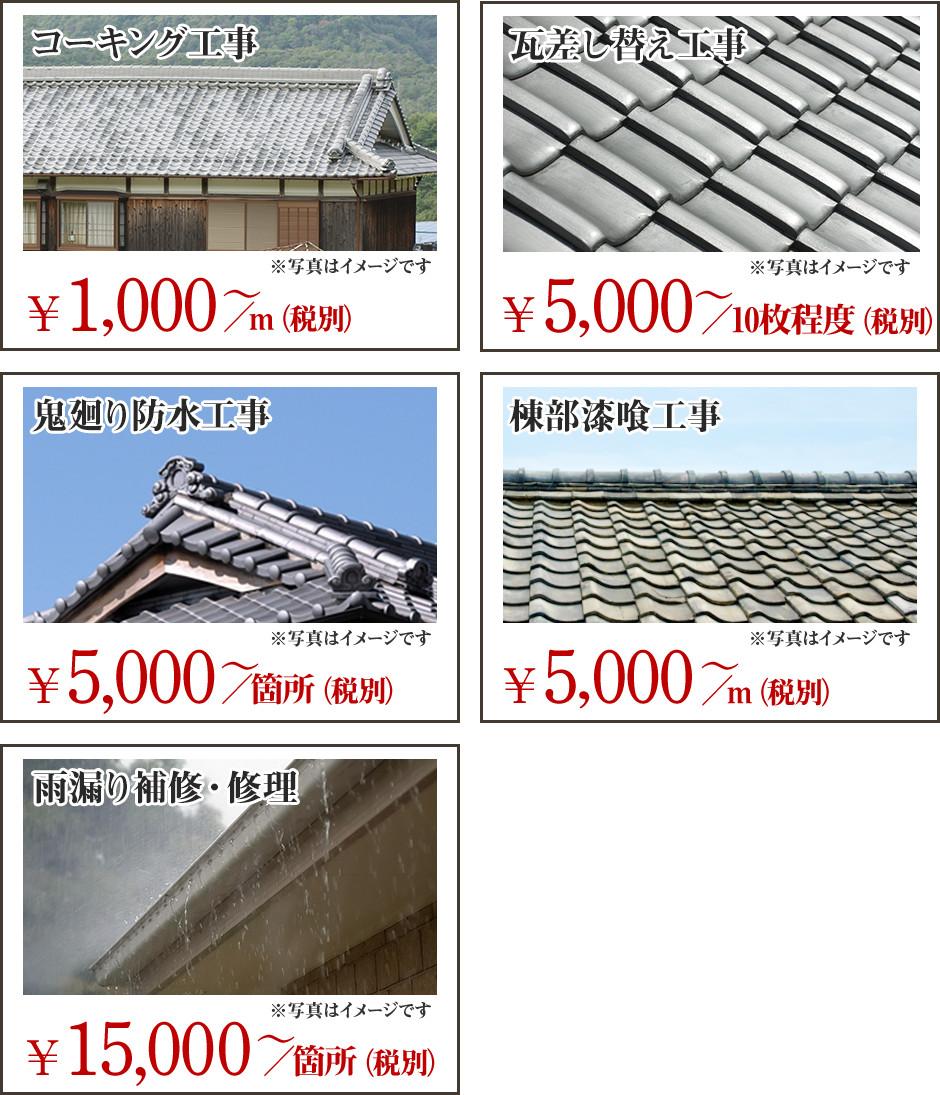 雨漏り修理・雨樋工事の価格